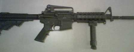 AR with new vertical grip